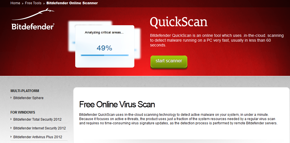 Quickly Scan Computer For Viruses Online For Free