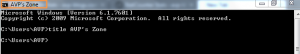 Custom title for Windows command prompt