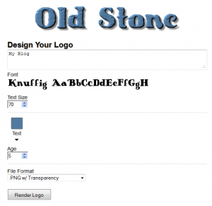 Selecting logo text, color and format
