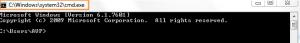 Default Windows command prompt title