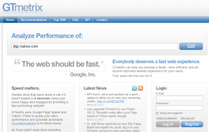 GTmetrix page load test