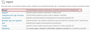 Importing Blogger content to WordPress